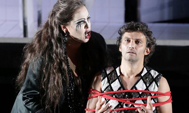 Jonas Kaufmann as Manrico and Elena Manistina as Azucena in Bavarian State Opera House's 2013 production of Il Trovatore.