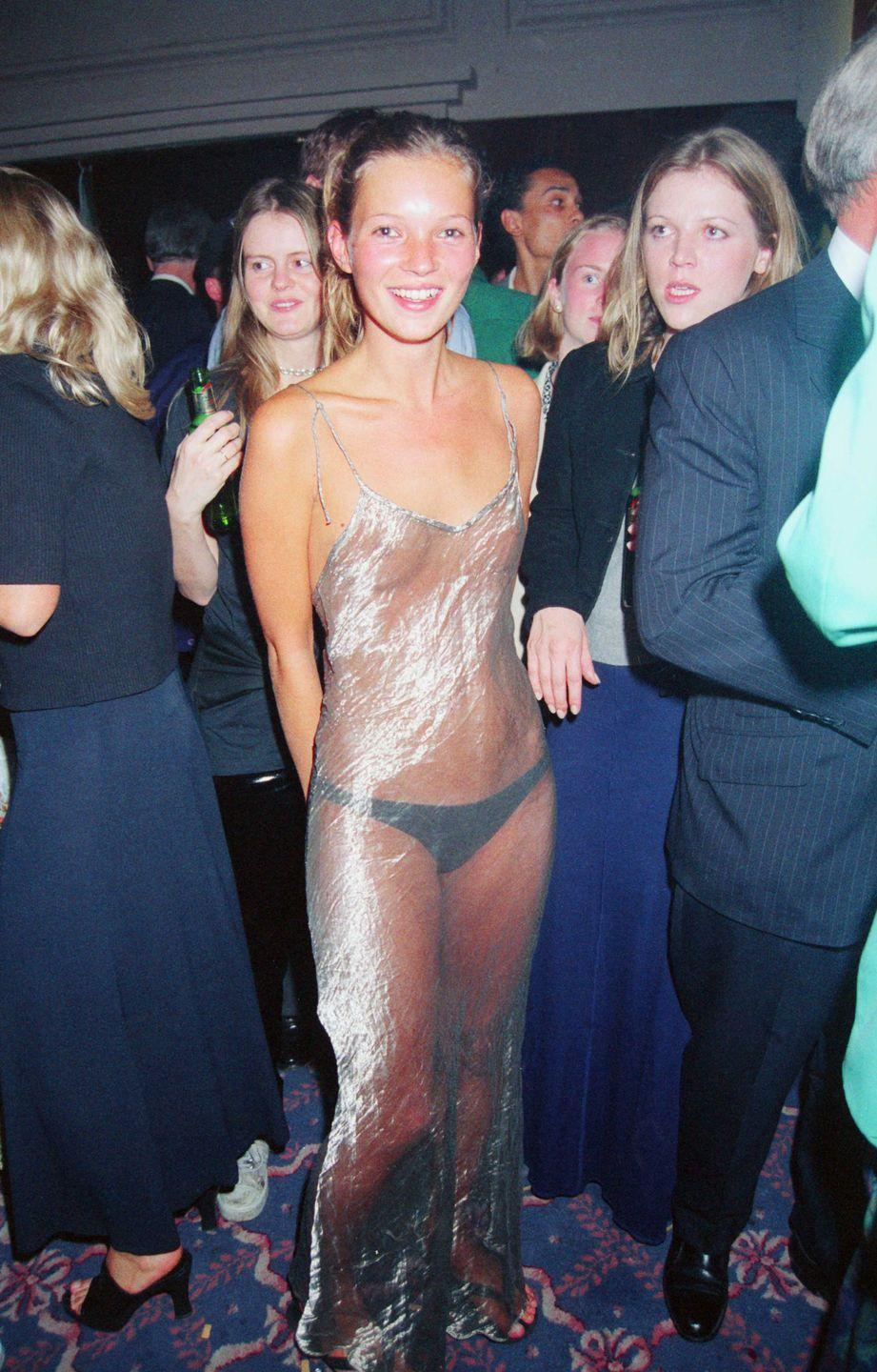 <p>Seen in London in September 1993, supermodel Kate Moss in the dress people still talk about, 27 years later.</p>