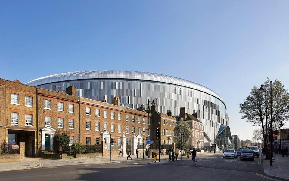The new stadium strikes an almost extra-terrestrial figure among the Georgian terraces (Hufton-Crow)