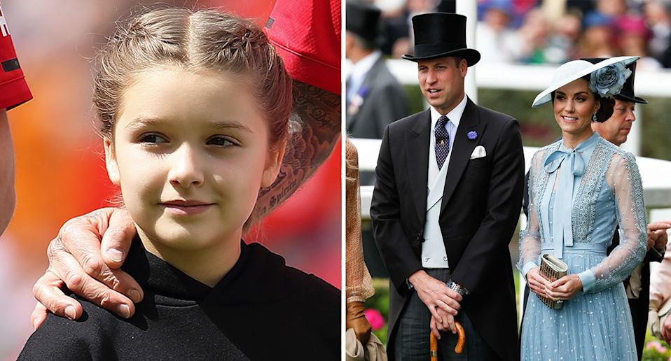 The Cambridges (right) and Harper Beckham featured on Tatler's debut Social Power Index. [Photo: Getty]