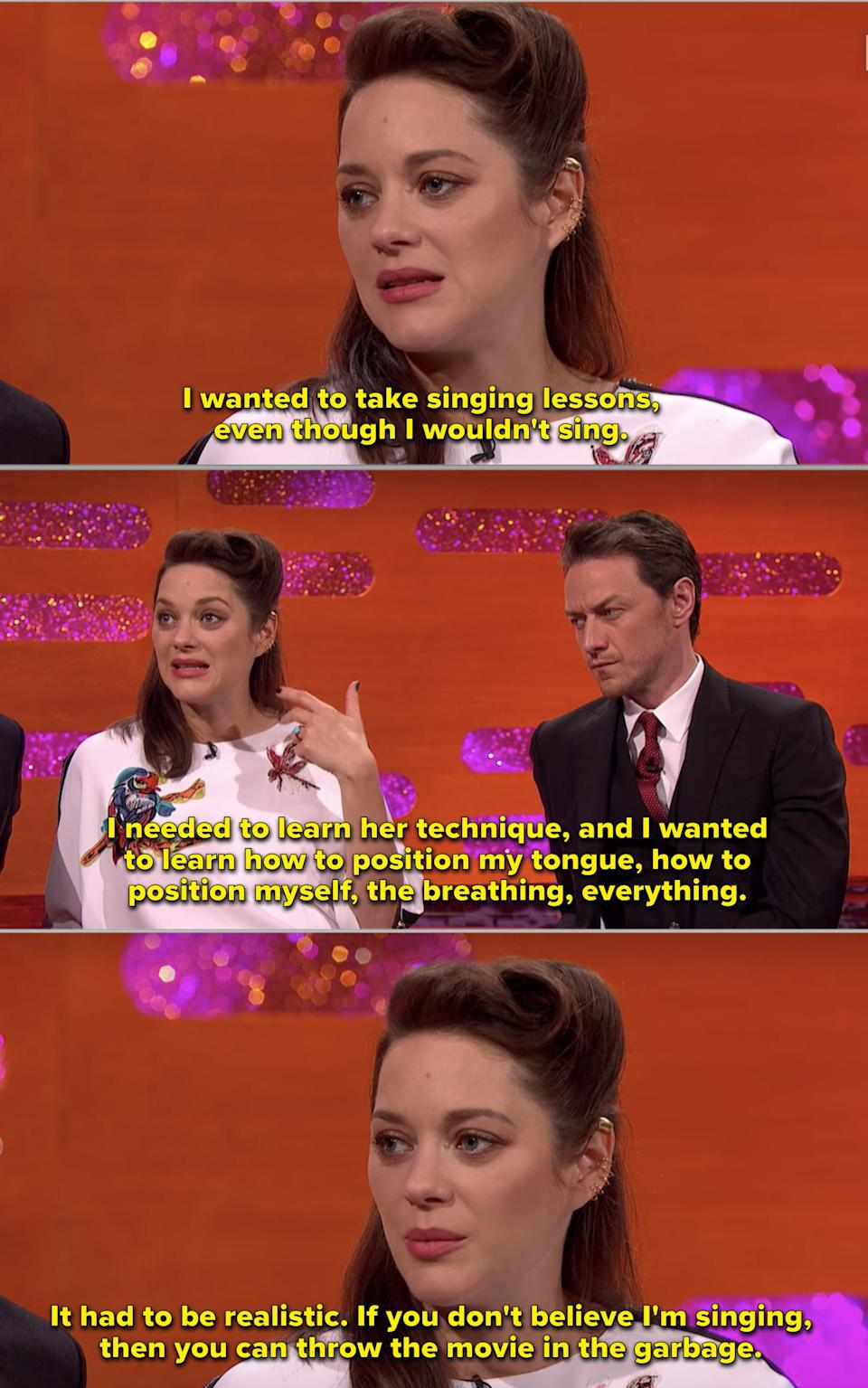 """Marion on """"The Graham Norton Show"""""""
