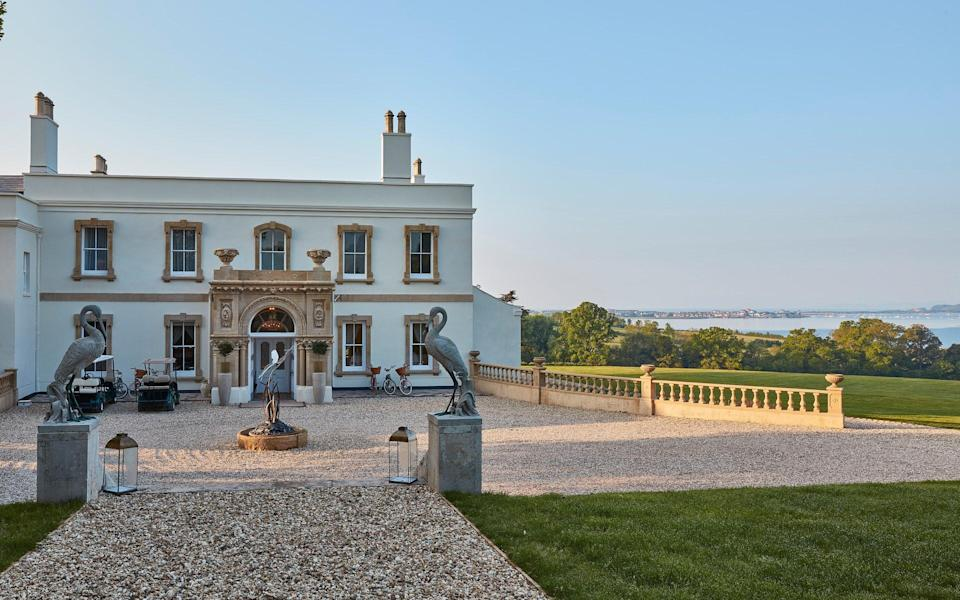 Exterior shot of Lympstone Manor, Exmouth