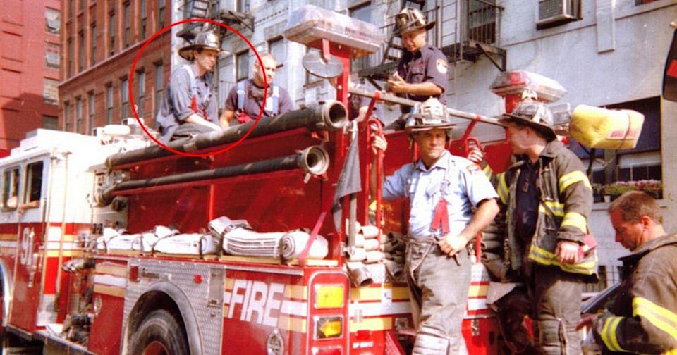 Steve Buscemi with Engine 55 from his HBO documentary (HBO)