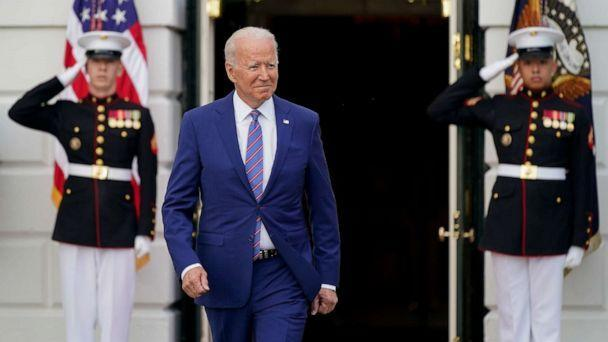 PHOTO: President Joe Biden arrives to speak during an Independence Day celebration on the South Lawn of the White House on July 4, 2021. (Patrick Semansky/AP)