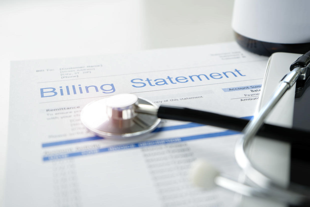 Check your medical statements carefully for claims you don't recognize. (Photo: Getty)