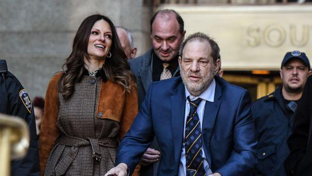 PHOTO: Movie producer Harvey Weinstein departs his sexual assault trial at New York Criminal Court with his lawyer Donna Rotunno (L) on February 14, 2020 in New York City. (Stephanie Keith/Getty Images)