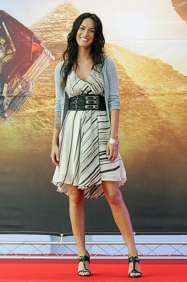 "<a href=""http://movies.yahoo.com/movie/contributor/1808488000"">Megan Fox</a> at the Korean press conference for <a href=""http://movies.yahoo.com/movie/1809943432/info"">Transformers: Revenge of the Fallen</a> - 06/10/2009"