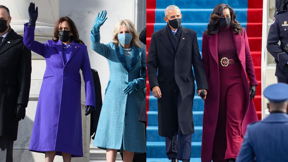 Everyone is wearing purple on Inauguration Day