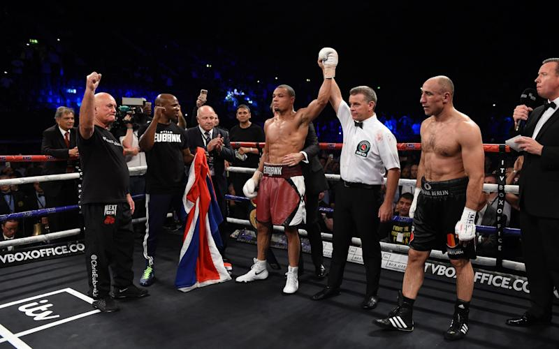 Chris Eubank Jnr defeats Arthur Abraham for the IBO World World Super Middleweight - Credit: Leigh Dawney/Getty