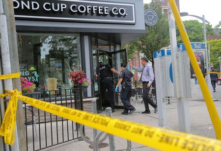 Mass shooting in Toronto; 1 killed and about 15 shot; gunman dead
