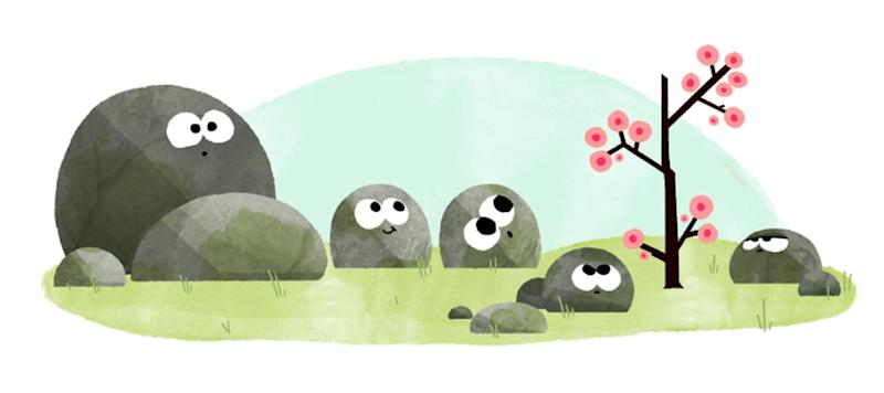 Google's vernal equinox Doodle in 2016 - Credit: Google