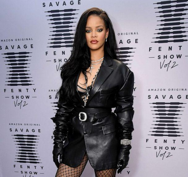 PHOTO: In this image released on Oct. 1, 2020, Rihanna attends the second press day for Rihanna's Savage X Fenty Show Vol. 2 presented by Amazon Prime Video at the Los Angeles Convention Center in Los Angeles. (Kevin Mazur/Getty Images for Savage X Fenty Show Vol. 2 Presented by Amazon Prime Video)