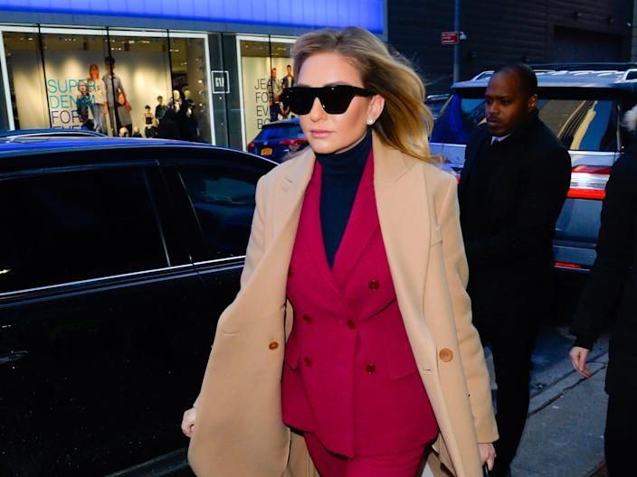 """Bumble CEO Whitney Wolfe Herd is seen outside Good Morning America on January 31, 2019 in New York City. <p class=""""copyright"""">Raymond Hall/GC Images/Getty Images</p>"""