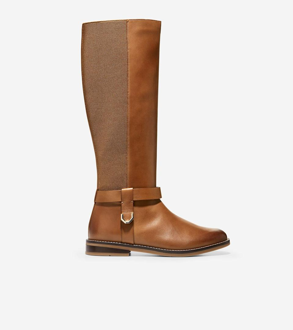 """<br><br><strong>Cole Haan</strong> Camry Riding Boot, $, available at <a href=""""https://go.skimresources.com/?id=30283X879131&url=https%3A%2F%2Ffave.co%2F35pnO9n"""" rel=""""nofollow noopener"""" target=""""_blank"""" data-ylk=""""slk:Cole Haan"""" class=""""link rapid-noclick-resp"""">Cole Haan</a>"""