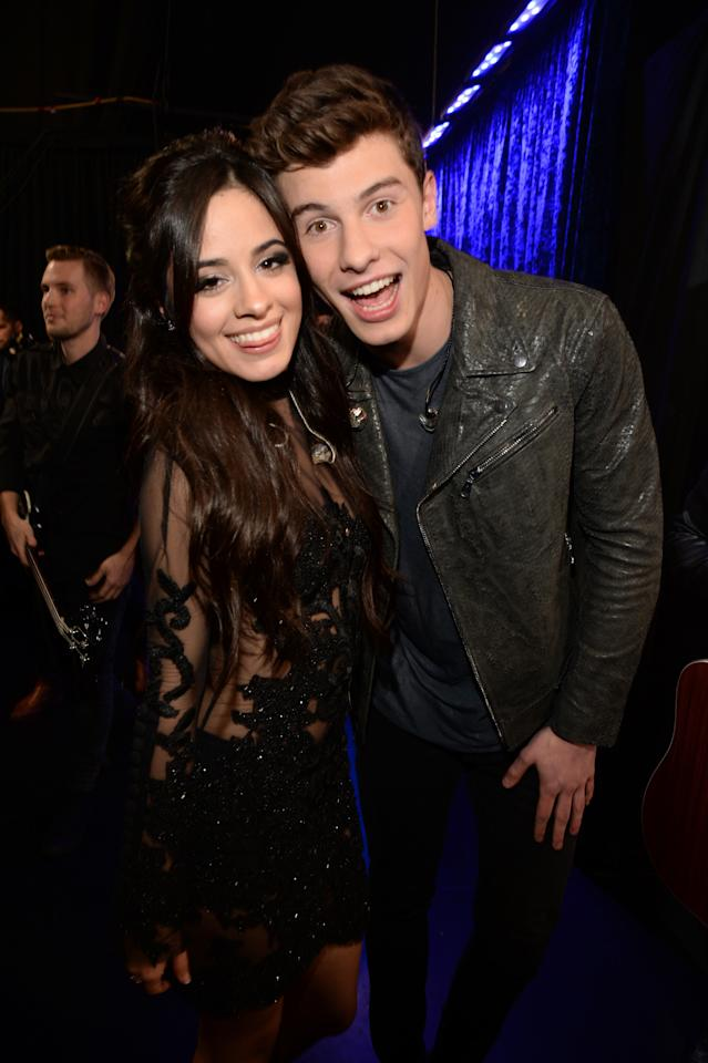 """Camila Cabello and Shawn Mendes have yet to publicly confirm that they are <a href=""""https://www.glamour.com/story/are-camila-cabello-shawn-mendes-dating?mbid=synd_yahoo_rss"""">an item</a>, but the two sparked rumors in July after the release the of the sexy video for their song """"Senorita."""" While some speculate that the relationship could be a publicity stunt, they have recently been <a href=""""https://www.glamour.com/story/camila-cabello-shawn-mendes-kissing?mbid=synd_yahoo_rss"""">spotted kissing</a> and holding hands."""
