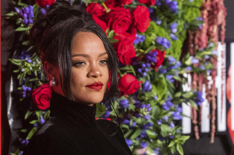 Rihanna attends the 5th annual Diamond Ball benefit gala at Cipriani Wall Street on Thursday, Sept. 12, 2019, in New York. (Photo by Charles Sykes/Invision/AP)