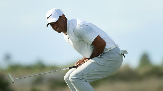 <p>Woods leads before Hoffman hits front in the Bahamas</p>