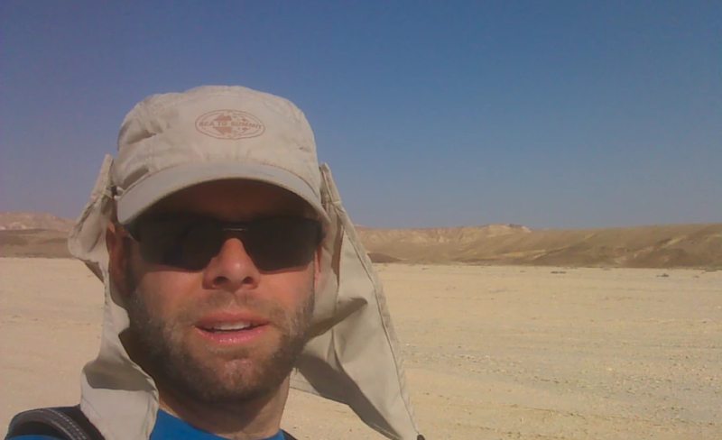 The end of 2013 when Mr Bowles ran 1000km across the desert in Israel. Source: Richard Bowles