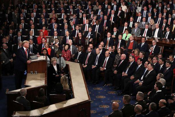 PHOTO: President Donald Trump delivers the State of the Union address in the chamber of the U.S. House of Representatives on Feb. 04, 2020, in Washington. (Drew Angerer/Getty Images, FILE)