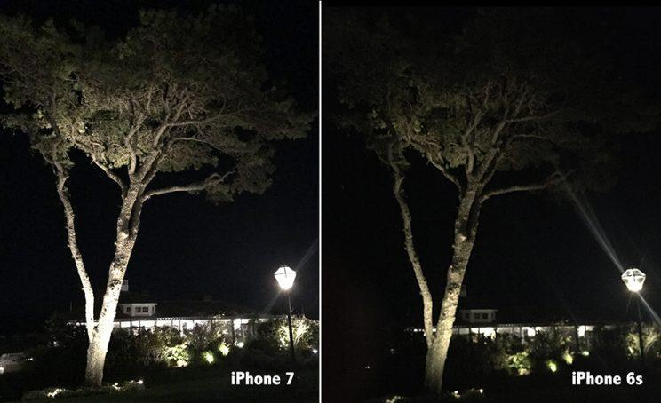 The iPhone 7's stabilizer and improved light sensitivity help in low light.