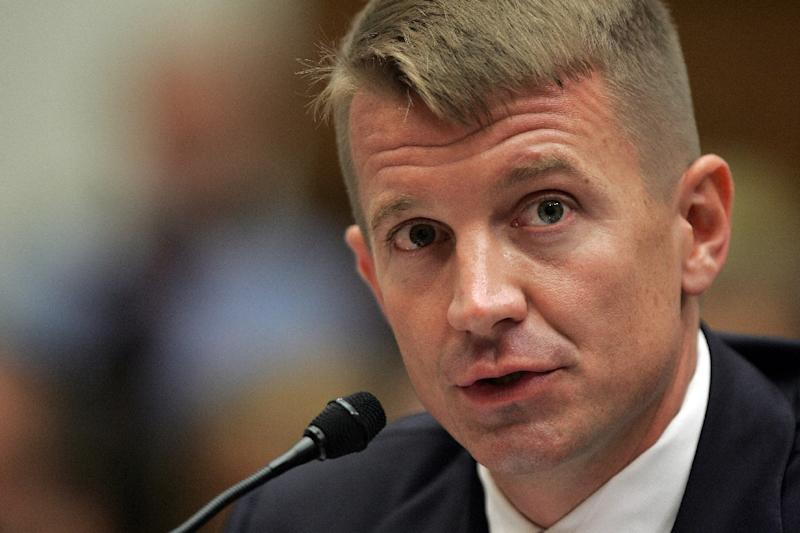 Erik Prince was the co-founder of private security firm Blackwater which played a controversial role in the wars in Iraq and Afghanistan