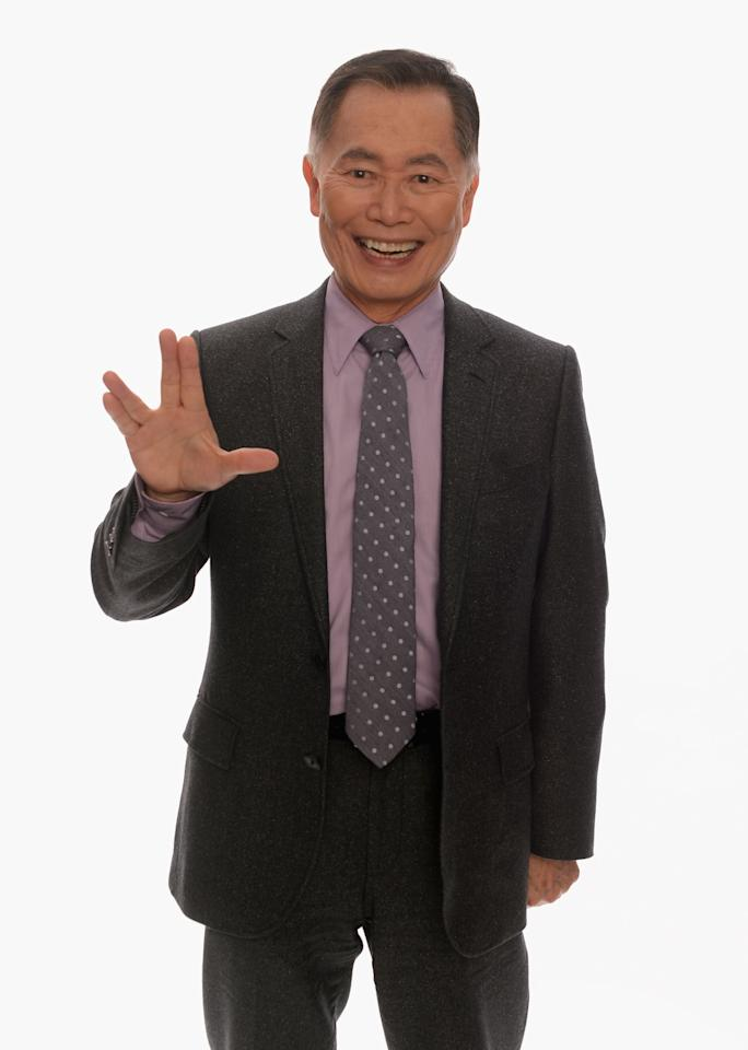HOLLYWOOD, CA - FEBRUARY 17:  Actor George Takei poses for a portrait in the TV Guide Portrait Studio at the 3rd Annual Streamy Awards at Hollywood Palladium on February 17, 2013 in Hollywood, California.  (Photo by Mark Davis/Getty Images for TV Guide)