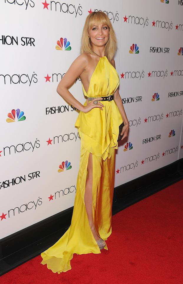 """Nicole Richie attends the """"<a target=""""_blank"""" href=""""http://tv.yahoo.com/fashion-star/show/47285"""">Fashion Star</a>"""" celebration at Macy's Herald Square on March 13, 2012 in New York City."""