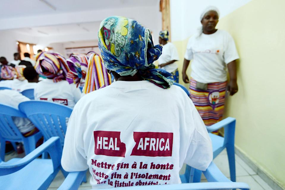 Women take part in a campaign at the hospital 'Heal Africa' which advocates an end to sexual violence and rape against women in Goma on May 30, 2013 (AFP Photo/Junior D. Kannah)