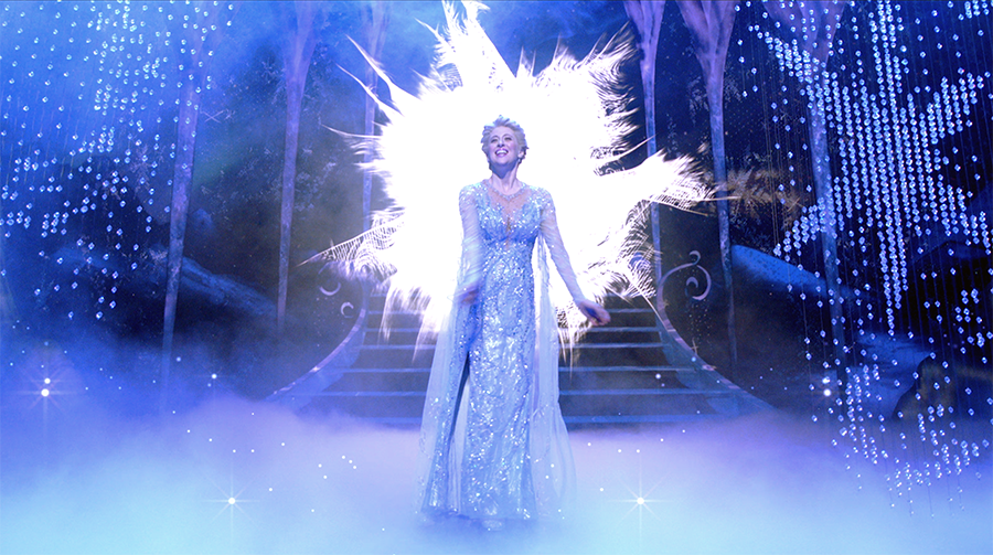 One-tenth of a second ago, Elsa was wearing a totally different outfit.