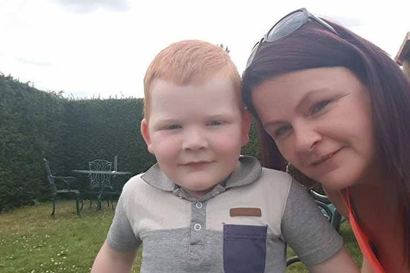 'Trespassing row': Caroline Jenkins was told to leave her son Junior, 4, at the gates