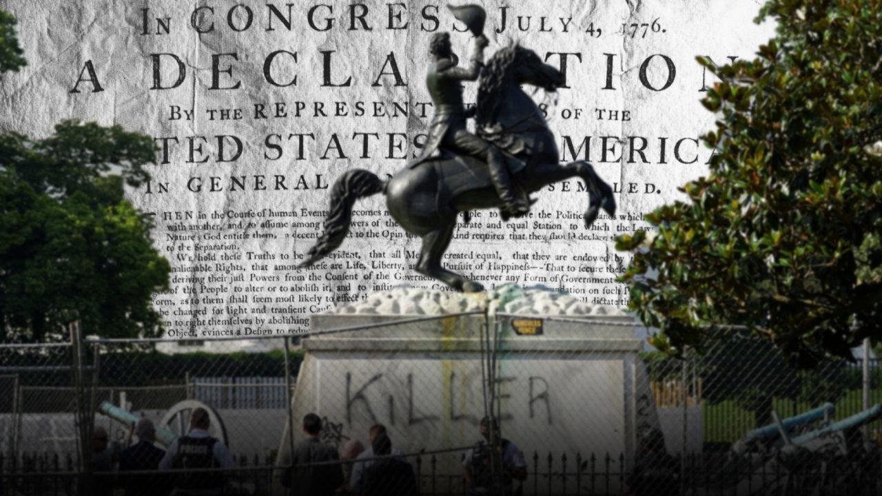 Wonder Land: The benchmark for American revolt remains the Declaration of Independence signed on July 4, 1776. Images: Keystone/Getty Images/Reuters Composite: Mark Kelly