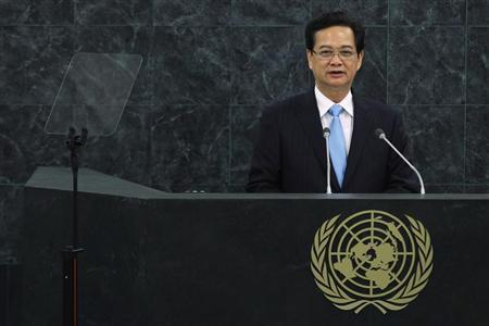 Vietnam's Prime Minister Nguyen Tan Dung addresses the 68th United Nations General Assembly at U.N. headquarters in New York