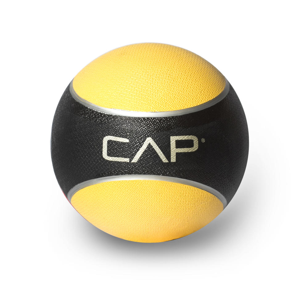 """<p>Incorporating a medicine ball to your workout is a great way to strengthen your core and arms. This affordable one from CAP has a 4.7-star rating on Walmart and you can't beat the price. """"The rubber texture makes the grip phenomenal and very usable,"""" points out one commenter. """"I would recommend this product to anyone looking to add to their fitness arsenal.""""<br><strong><a rel=""""nofollow noopener"""" href=""""https://fave.co/2SCRwyY"""" target=""""_blank"""" data-ylk=""""slk:Shop It"""" class=""""link rapid-noclick-resp"""">Shop It</a>:</strong> $11, <a rel=""""nofollow noopener"""" href=""""https://fave.co/2SCRwyY"""" target=""""_blank"""" data-ylk=""""slk:walmart.com"""" class=""""link rapid-noclick-resp"""">walmart.com</a> </p>"""