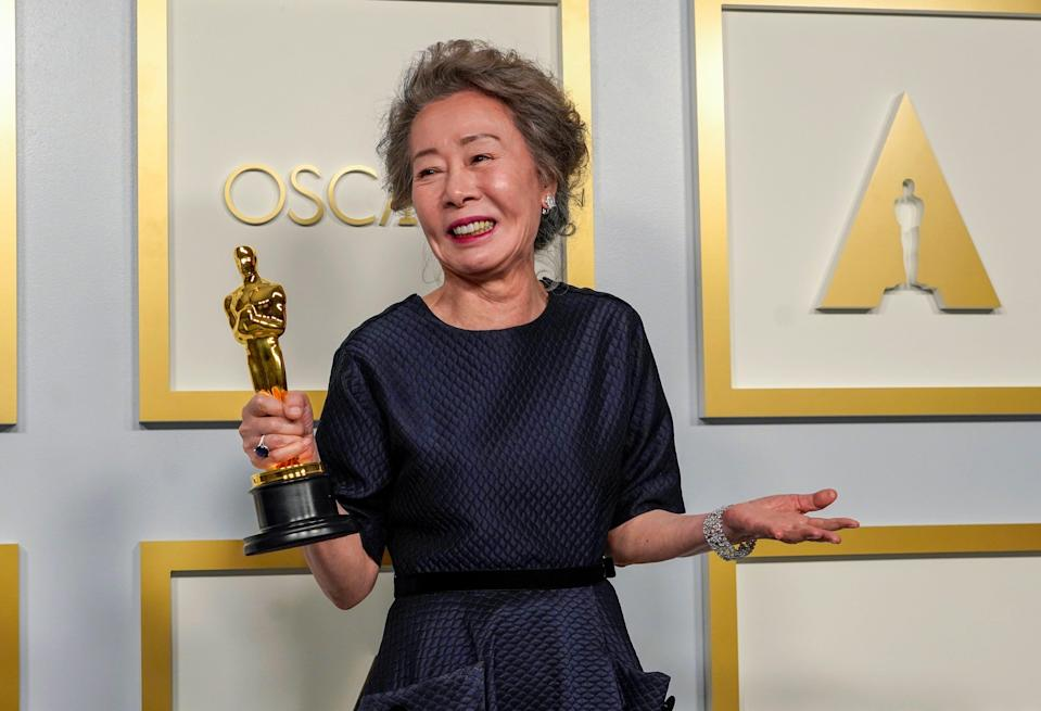 """Yuh-Jung Youn wins best actress in a supporting role for """"Minari."""""""