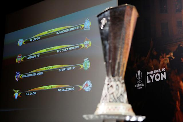Soccer Football - Europa League Quarter-Final Draw - Nyon, Switzerland - March 16, 2018 General view of the final draw REUTERS/Pierre Albouy