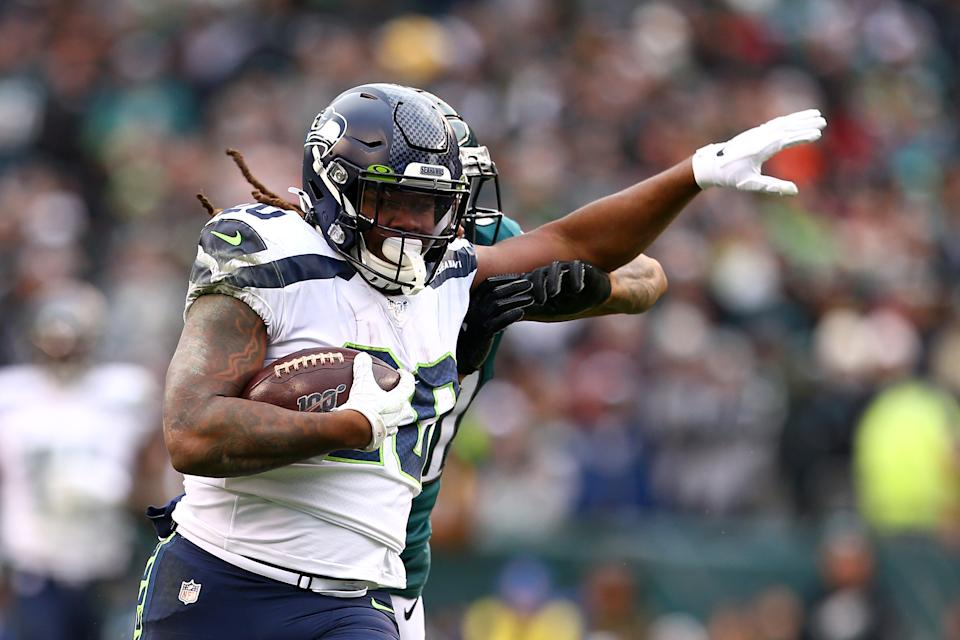 Rashaad Penny says cutting McDonald's out of his diet helped him have a career day against the Eagles. (Photo by Mitchell Leff/Getty Images)