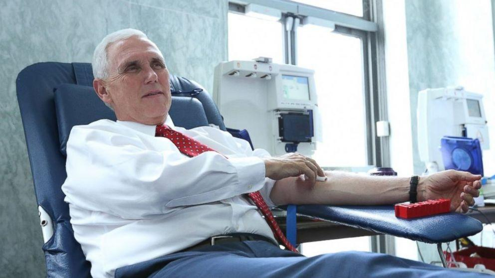 Mike Pence, other lawmakers donate to Capitol Hill blood bank in honor of Scalise (ABC News)