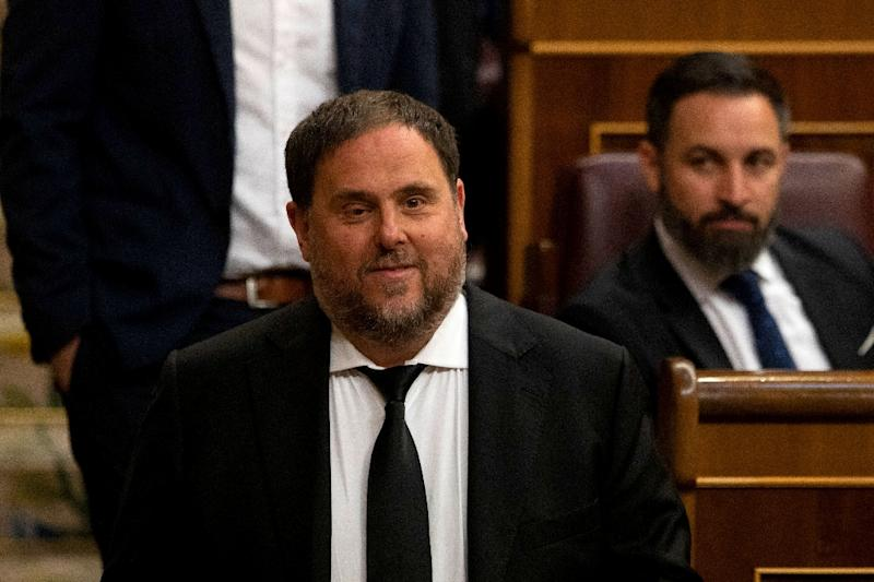 Catalonia's former vice-president Oriol Junqueras is charged with rebellion and risks 25 years in jail (AFP Photo/Pablo Blazquez)