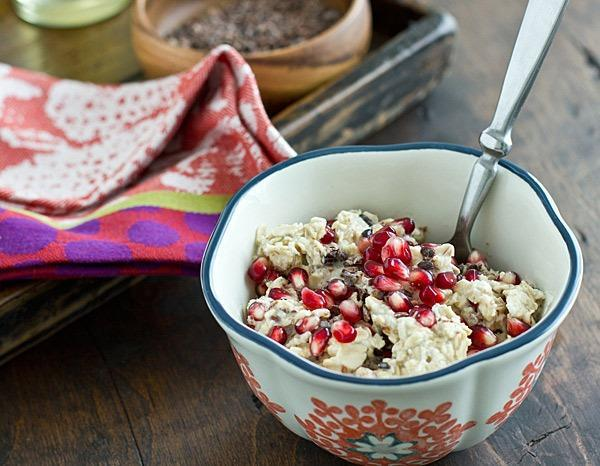 pomegranate cacao nib oats