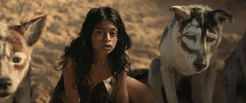 """<p><strong>Netflix's Description:</strong> """"An orphaned boy raised by animals in the jungle seizes his destiny while confronting a dangerous enemy - and his own human origins.""""</p> <p><a href=""""https://www.netflix.com/title/80993105"""" class=""""link rapid-noclick-resp"""" rel=""""nofollow noopener"""" target=""""_blank"""" data-ylk=""""slk:Stream Mowgli: Legend of the Jungle on Netflix!"""">Stream <strong>Mowgli: Legend of the Jungle</strong> on Netflix!</a></p>"""