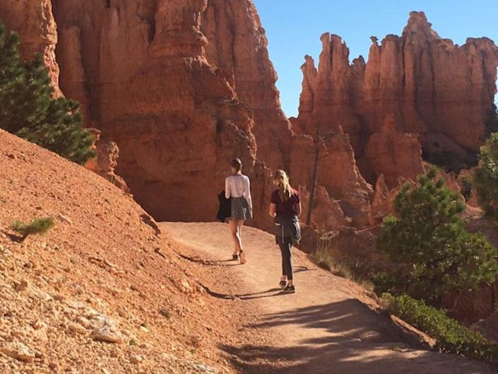 Wild west: hikers in Zion Canyon National Park, Utah (Charlotte Hindle)
