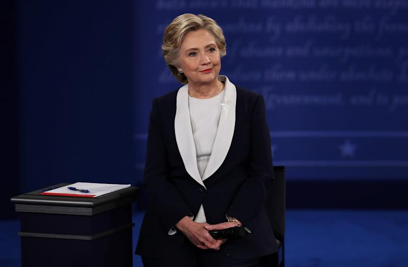 ST LOUIS, MO - OCTOBER 09: Democratic presidential nominee former Secretary of State Hillary Clinton listens during the town hall debate at Washington University on October 9, 2016 in St Louis, Missouri. This is the second of three presidential debates scheduled prior to the November 8th election. (Photo by Win McNamee/Getty Images)