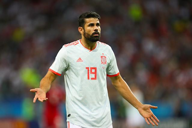 Diego Costa scored a fortunate goal for Spain in its narrow win over Iran. (Getty)