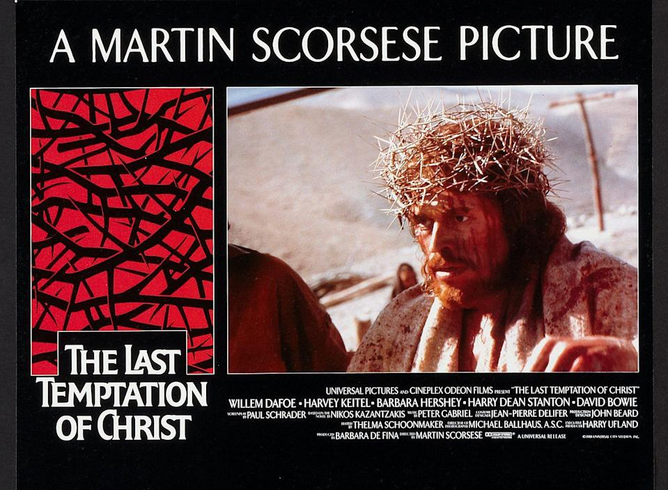 A poster of <i>The Last Temptation of Christ.</i>