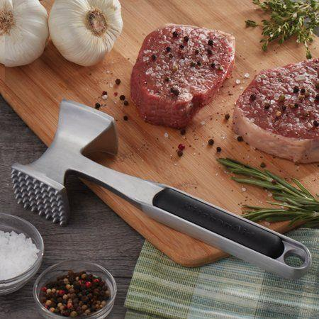"""<p><strong>KitchenAid</strong></p><p>walmart.com</p><p><strong>$14.97</strong></p><p><a href=""""https://go.redirectingat.com?id=74968X1596630&url=https%3A%2F%2Fwww.walmart.com%2Fip%2F569770464&sref=https%3A%2F%2Fwww.delish.com%2Fkitchen-tools%2Fcookware-reviews%2Fg4175%2Ffathers-day-grilling-gifts%2F"""" rel=""""nofollow noopener"""" target=""""_blank"""" data-ylk=""""slk:BUY NOW"""" class=""""link rapid-noclick-resp"""">BUY NOW</a></p><p>KitchenAid's classic meat tenderizer is a must-have for any grilling pro. Its textured surface makes it usable for a variety of cuts of meat and the aluminum handle keeps it sturdy but not overly heavy.</p>"""
