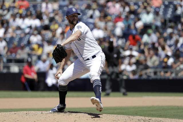 "<a class=""link rapid-noclick-resp"" href=""/mlb/teams/sdg"" data-ylk=""slk:San Diego Padres"">San Diego Padres</a> starting pitcher <a class=""link rapid-noclick-resp"" href=""/mlb/players/8856/"" data-ylk=""slk:Jordan Lyles"">Jordan Lyles</a> is getting a chance to start (AP Photo)."