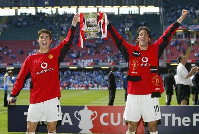 Cristiano Ronaldo, left, helped Manchester United defeat Millwall in the 2003/04 FA Cup final (Martin Rickett/PA)