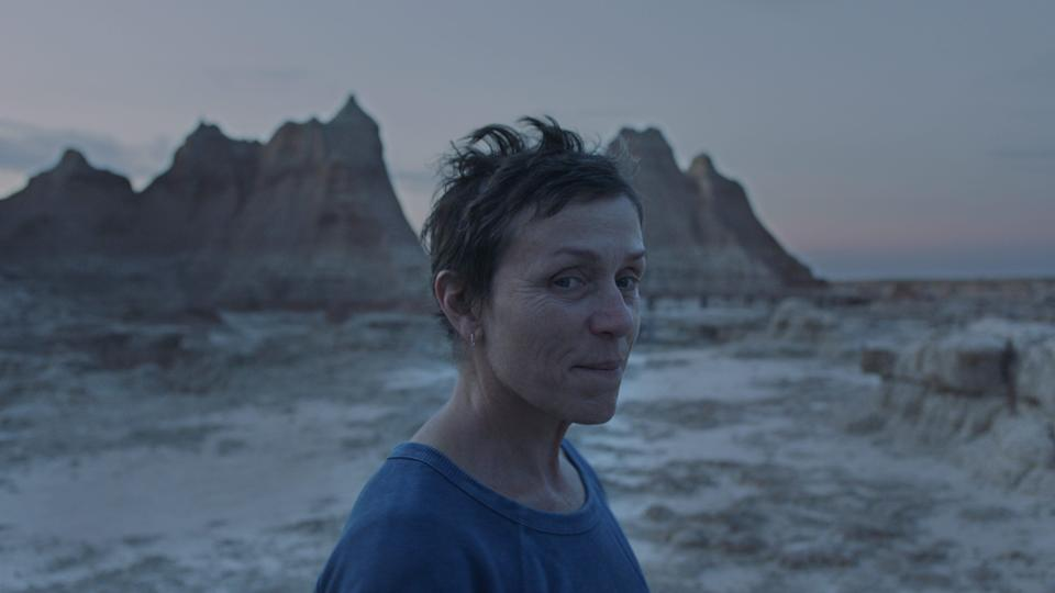 """Frances McDormand stars as a woman who hits the road after her husband's death in Chloe Zhao's """"Nomadland."""" The drama, which features mostly non-professional actors, was largely overlooked by the Screen Actors Guild."""