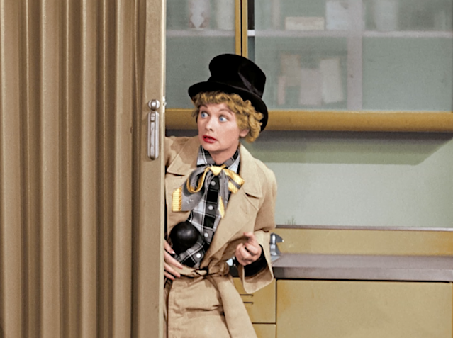 Lucille Ball as Harpo Marx in 'I Love Lucy' (Photo: CBS)