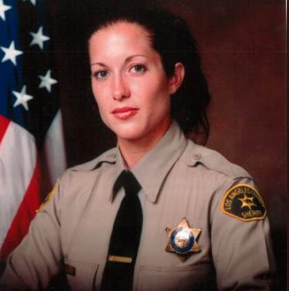 Amber Leist was killed after she helped an elderly woman cross the street, while she was off-duty. Source: Twitter/@LACoSheriff